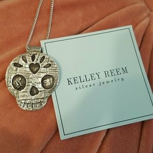 Sterling Sugar Skull Necklace One of a Kind